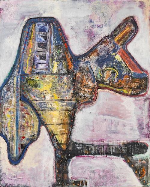 in Pictures for Steve DiBenedetto at Derek Eller Gallery. Image for Steve DiBenedetto, 'I, Robot,' 2015, oil on linen, 60 x 48 x 1.25 inches. Courtesy Derek Eller Gallery
