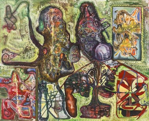 in Pictures for Steve DiBenedetto at Derek Eller Gallery. Image for Steve DiBenedetto, 'Seven Grain Satan,' 2010-2015, oil on linen, 78 x 96 x 1.25 inches. Courtesy Derek Eller Gallery