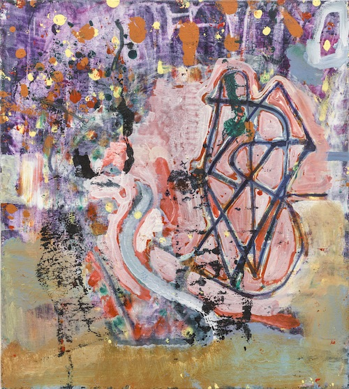 in Pictures for Steve DiBenedetto at Derek Eller Gallery. Image for Steve DiBenedetto, 'Good Mystic vs. Bad Mystic vs. Tom Carvel,' 2015, oil on linen, 18 x 16 x 1 inches. Courtesy Derek Eller Gallery