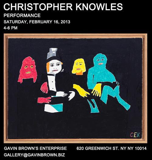 PERFORMANCE: CHRISTOPHER KNOWLES  | Events Calendar