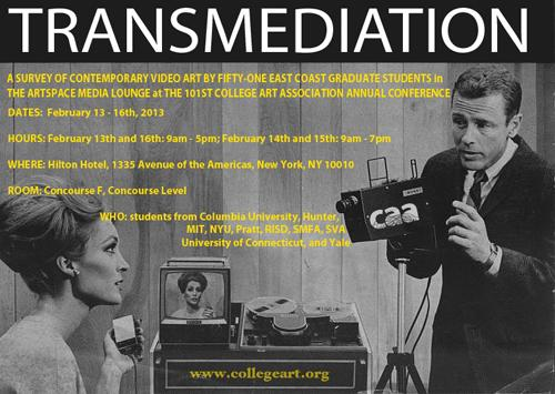 Transmediation Screening and Reception  | Events Calendar
