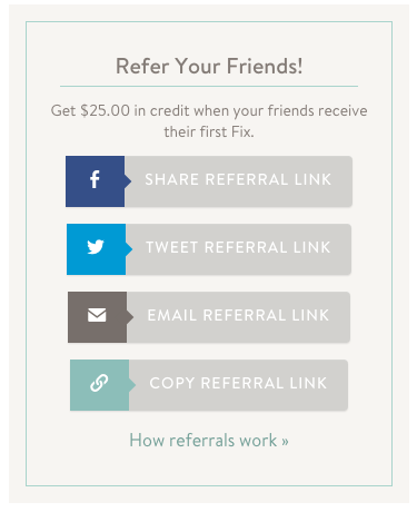 use social sharing to promote referral program