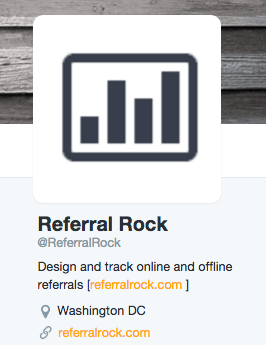Promote referral program with social media bio