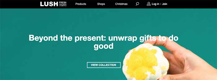 lush e-commerce site