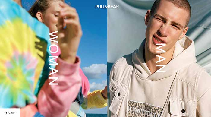 Pull & Bear website