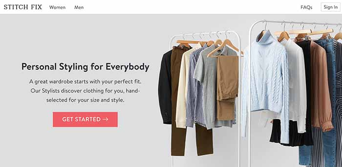 Stitch Fix e-commerce site
