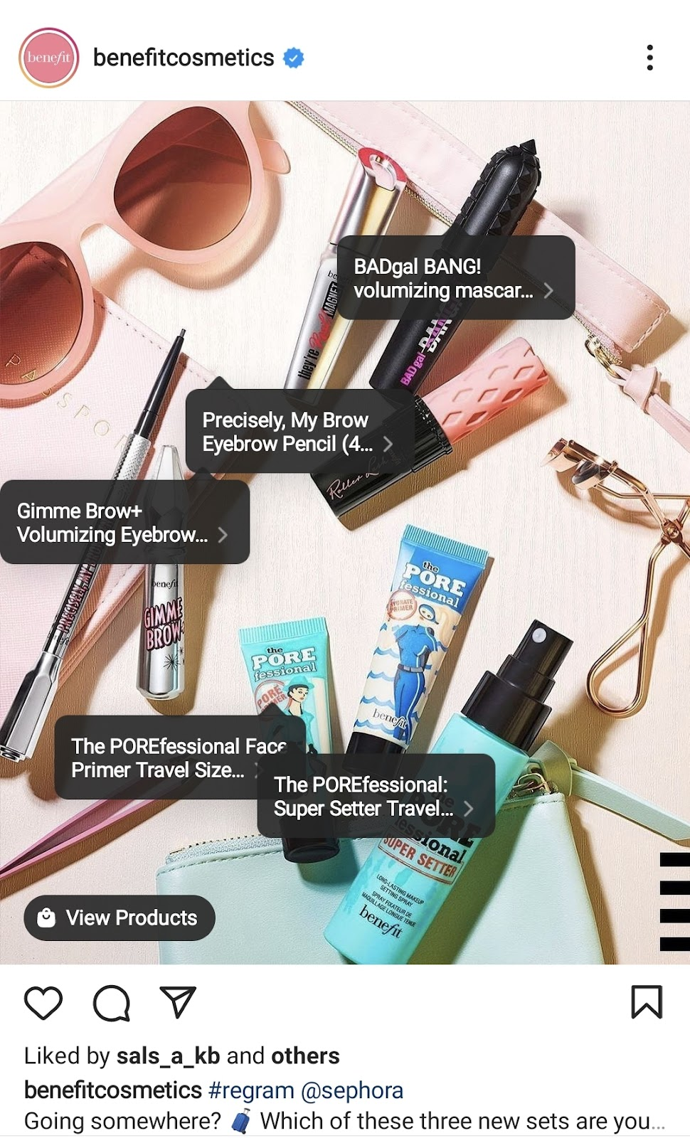 Example of tagging products in Instagram posts