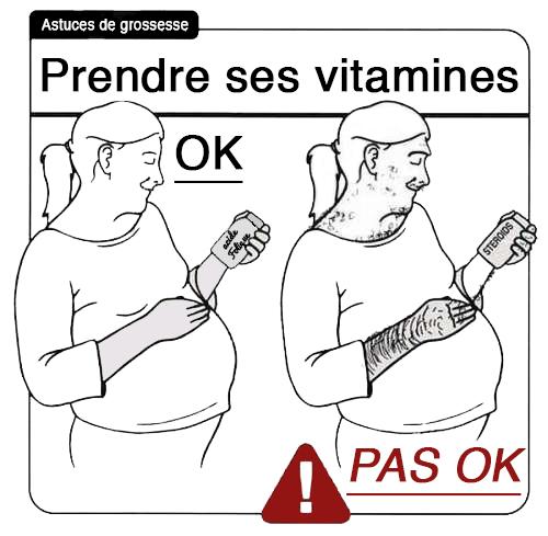 Astuce de grossesse : prendre vitamines prénatales