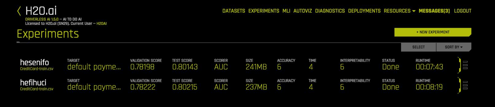 Credit Card Demo — Using Driverless AI 1 5 3 documentation