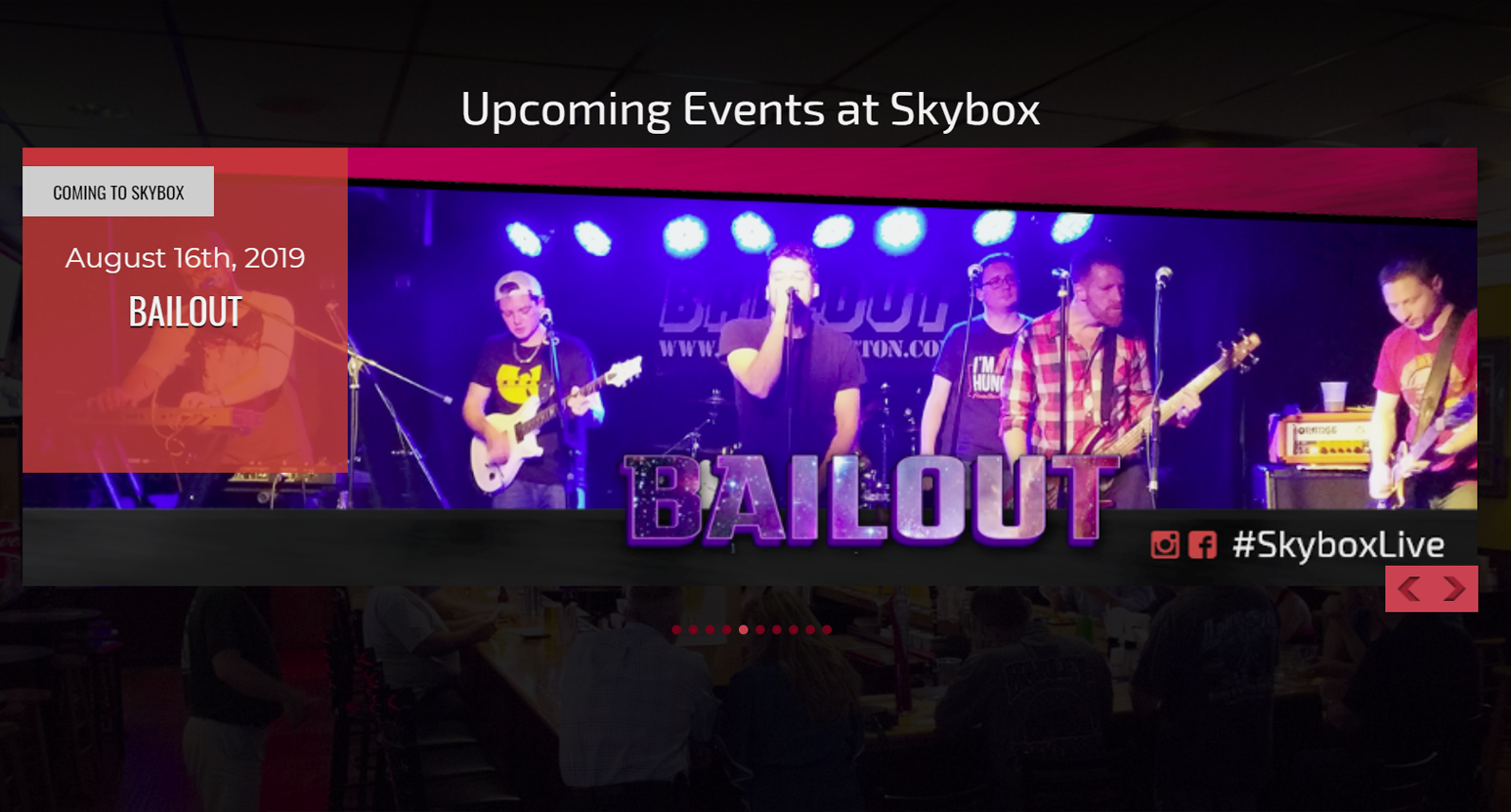 Featured Events Slider for your Website or Mounted TV at your Venue