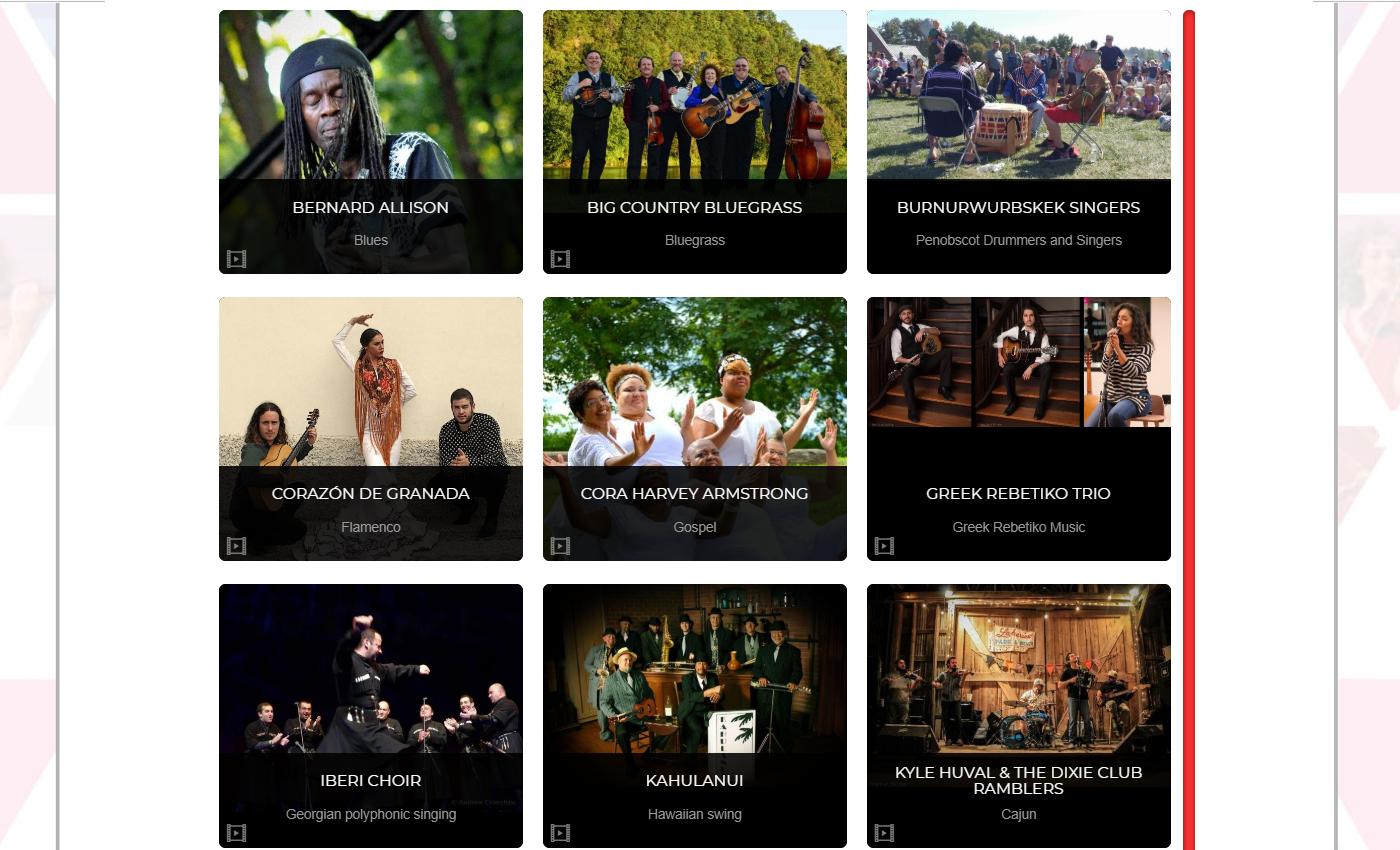 Festival Lineup Slide