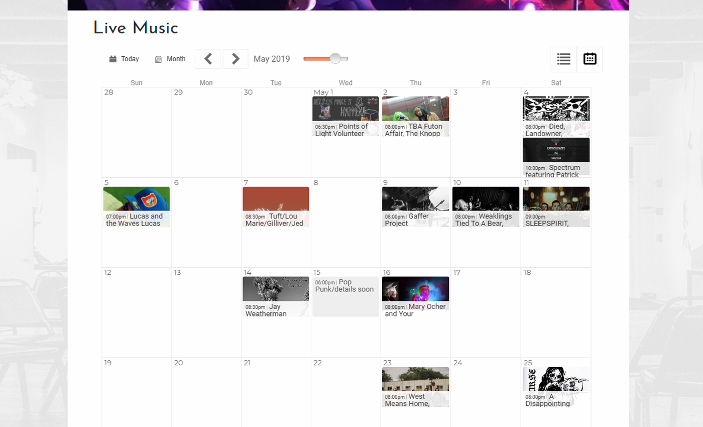 Beautiful Event Calendars for Your Website