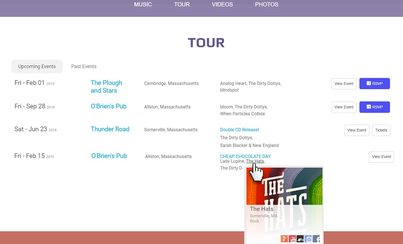 Integrated Artist Websites
