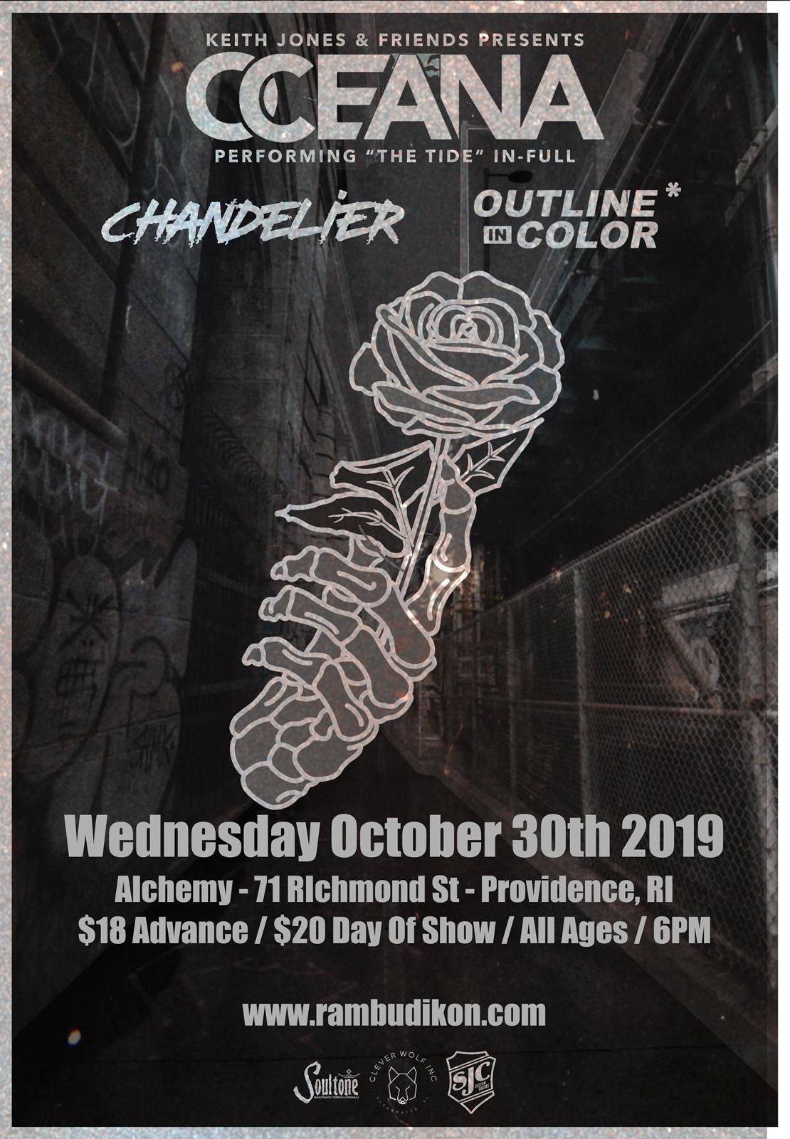 "Oceana (Performing ""The Tide"") | Chandelier | Outline In Color"