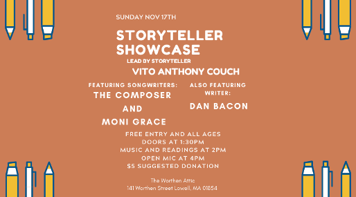 Storyteller Showcase Featuring Storytellers Vito Couch and Dan Bacon