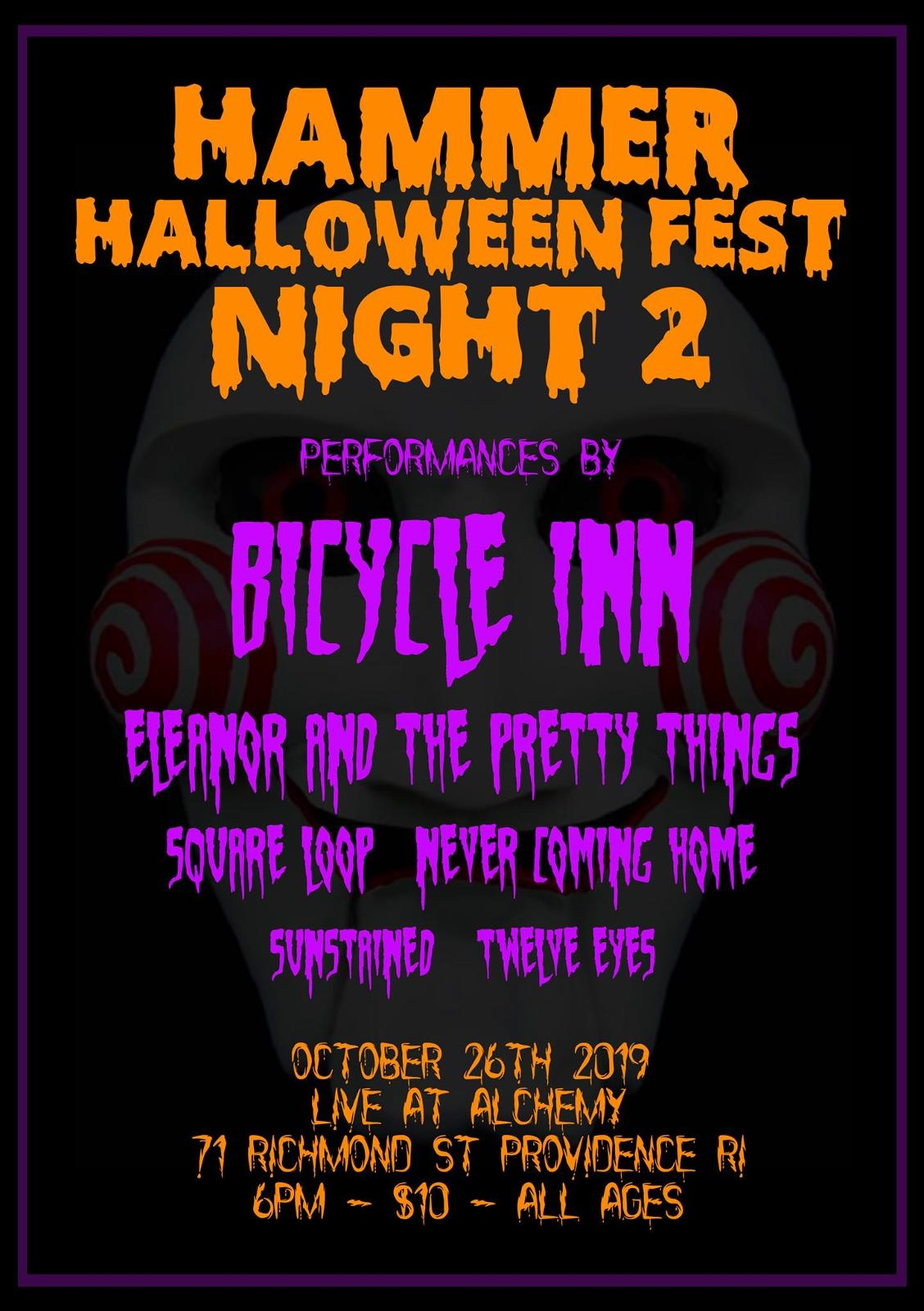 Bicycle Inn | Eleanor & The Pretty Things | Square Loop | Sustained | Twelve Eyes | Never Coning Home