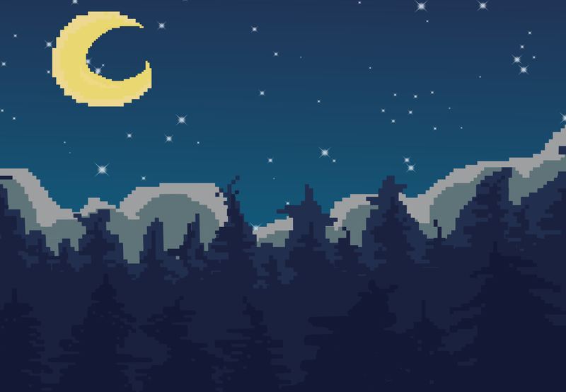 Fully Colored Pixel Art Background