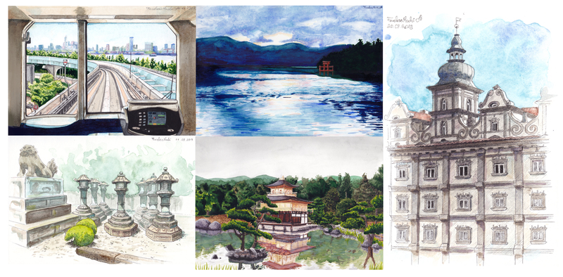 Digitalized Watercolour Scenery