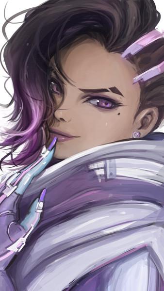 Sketchy colored portrait