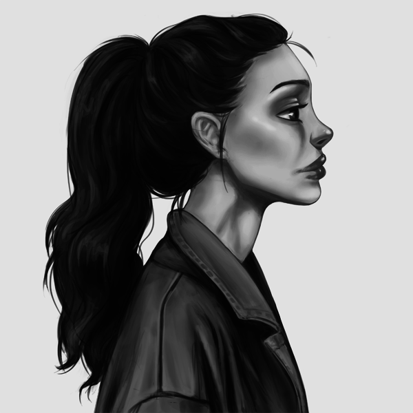 Black/white stylized portrait