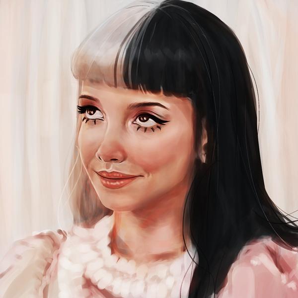 Colored realistic portrait