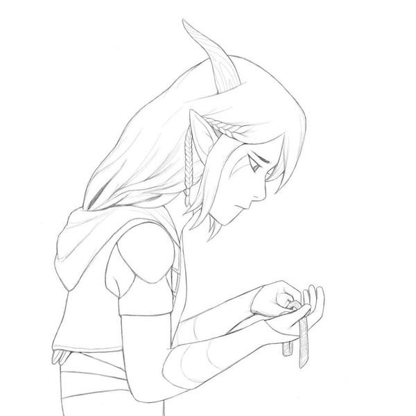 Waist-Up Sketch