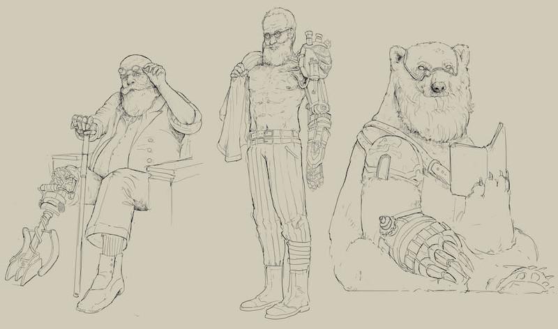 Character line Art (Full Body)