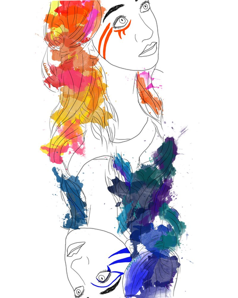 Custom Watercolor Digital Portrait