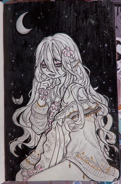 Ink art halfbody