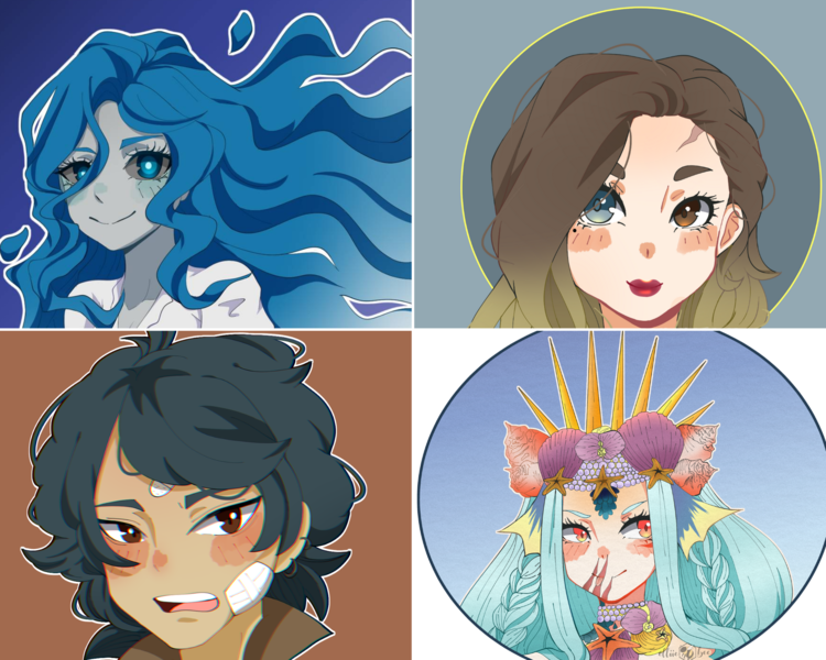 Simple Anime Bust Portraits
