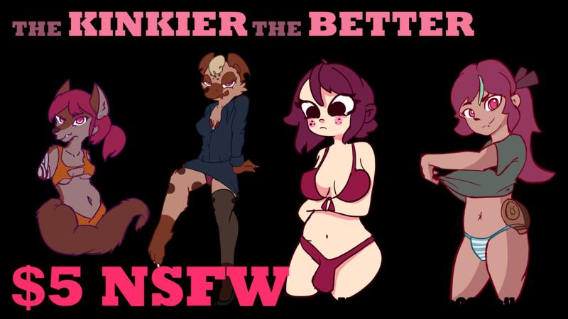 Draw any nsfw hentai/anime/furry FEMALES