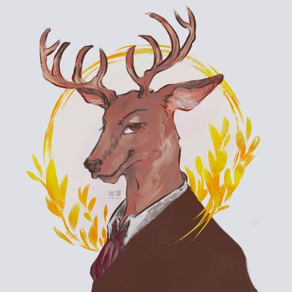 color portrait anthro / animal /fursona
