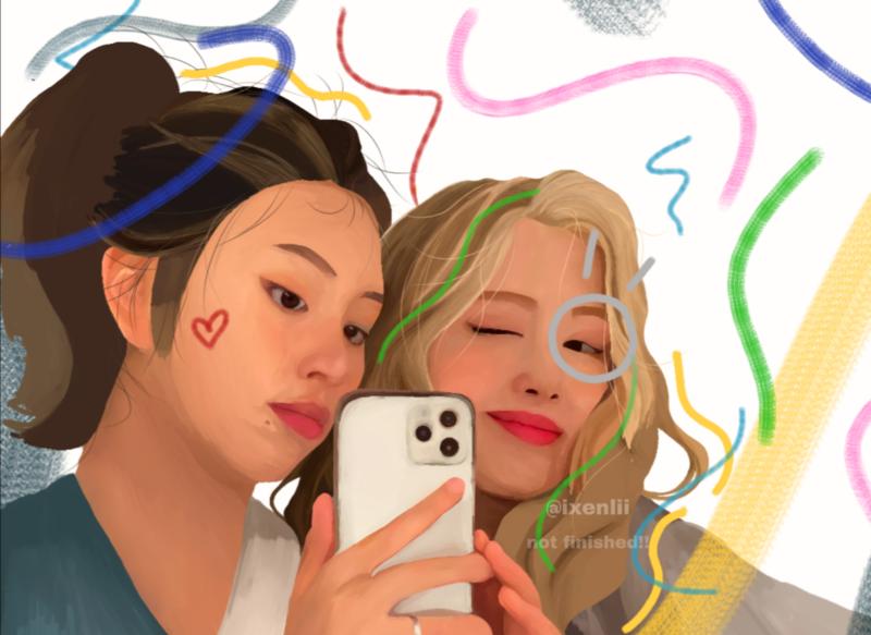 semi realistic painting