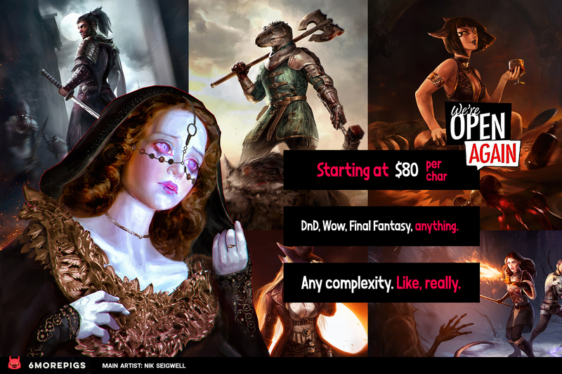 High-quality colored fantasy artwork