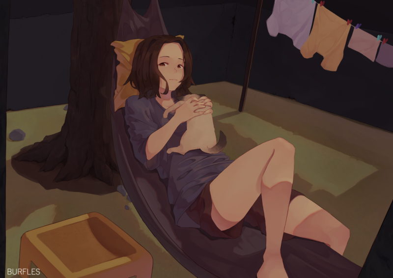 Painted Character and BG (Full Body)