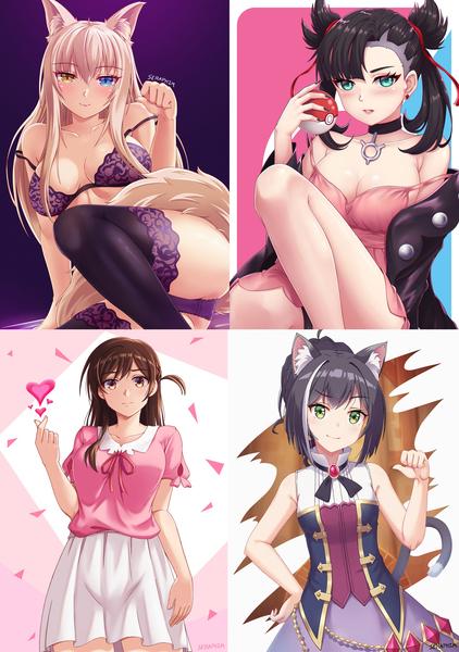 Anime style half body Illustration