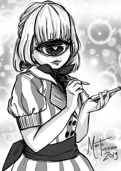 Manga Style Monster Girl - Half Body