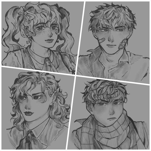 headshot/bust sketch