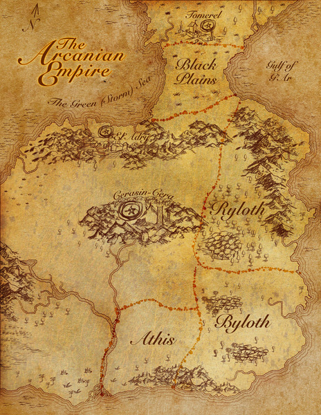 Parchment texture fantasy map (the budget brush stamped edition)