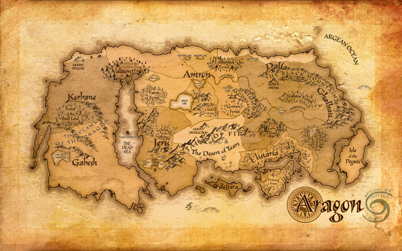 Fantasy continent map (mid-range edition) - Artists&Clients