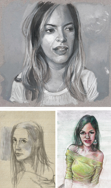 Custom portrait, traditional or digital