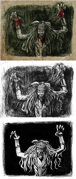 Ilustración mounstro-fantástica.