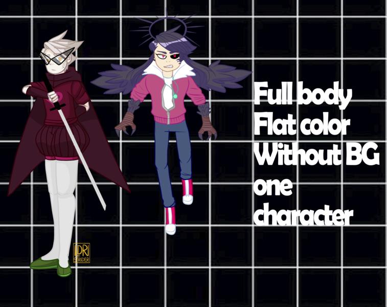 Flat color [no BG/ Full body 1-2 CHAR]