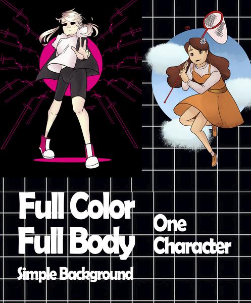 FULL COLOR [SIMPLE BG/HALF BODY 1-2CHAR]
