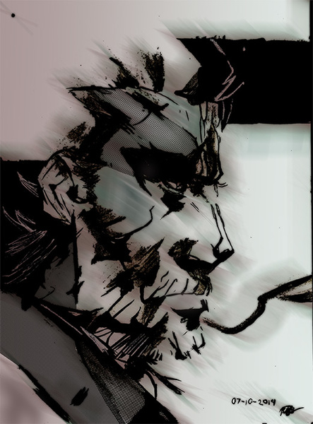MGS Style bust shot to half body shot
