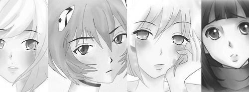 Character line art w/ basic shading