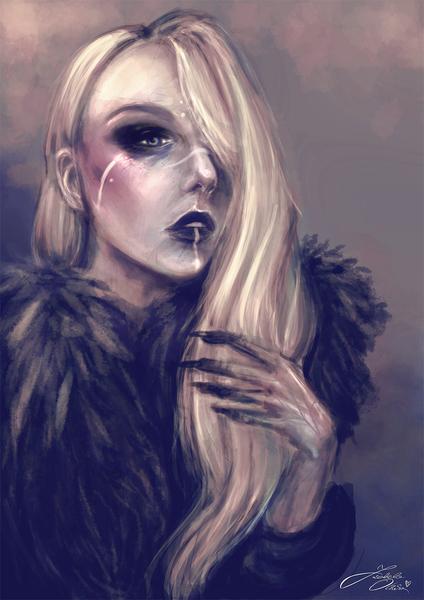 Sale -25% Headshot colored portrait - digital painting