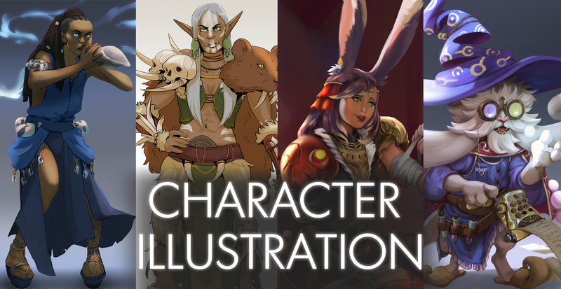 Character Illustration (Portrait/Halfbody/Fullbody)