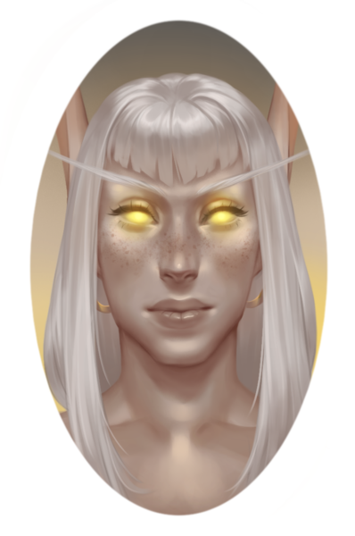 simple colored headshot/bust