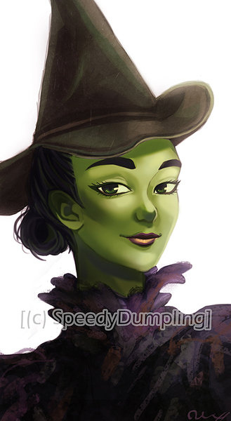 Digital Painting Colored Bust